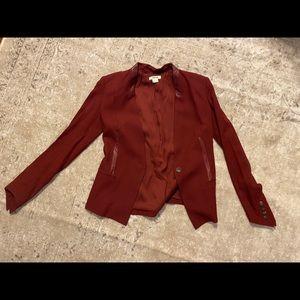 Helmut Lang burgundy blazer, size zero